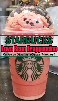 Celebrate Valentine's Day with a Starbucks Love Bean Frappuccino! Deliciously pink and perfect for the occasion!