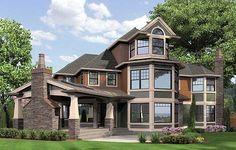 Plan W23362JD: Photo Gallery, Luxury, Northwest, Shingle Style, Craftsman, Corner Lot, Premium Collection House Plans & Home Designs