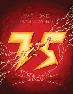 Shazam 75th Anniversary Pin Up