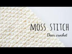 코바늘 모스 스티치 패턴 (Crochet Moss Stitch pattern) - YouTube