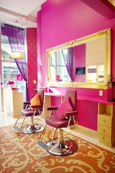 Hate the colors and chairs but like the mirror and shelf idea