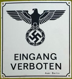 original Third Reich enamel sign