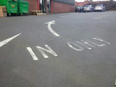 Look out for one way markings in car parks