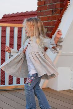 PDF - Elenora's Ruffle Tea Coat PDF Pattern - Sizes 3months- girls 10