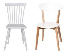 Chaise bois et blanc pour une déco scandinave Anneke de Drawer et Vitak de Drawer