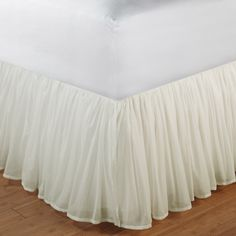 15 Cotton Voile Ivory Bedskirt