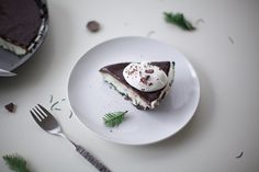 grasshopper pie: cool mint ice cream + dark chocolate