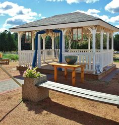 Ceremony was held in front of Gazebo. Dream Themes added windows and drapery