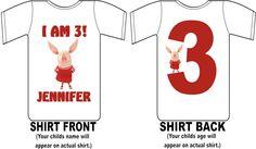Olivia the Pig Custom Birthday Shirt