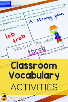 Developing vocabulary through classroom vocabulary games and other vocabulary activities helps students master word meaning to support their reading comprehension. Classroom vocabulary games make vocabulary practice fun and help kids positively connect words and meanings. Here are a few classroom vocabulary games your students will love.