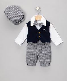 Navy & Blue Knickers Set - Infant by Baby Jett Setters