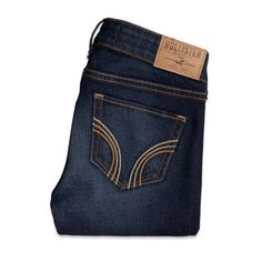 Hollister Taylor Boot Jeans ($24) ❤ liked on Polyvore featuring jeans, bottoms, pants, calças, faded blue jeans, dark wash jeans, low rise bootcut jeans, hollister co jeans and faded jeans