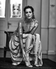 Leyla Feray wears the Filigree Top and Skirt from the Winter 2017 collection featured in Instyleturkiye Temperley, Winter 2017, Bridal Accessories, Couture, Character Inspiration, Filigree, Ready To Wear, Sequins, Sari