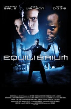 Equilibrium is a 2002 American dystopian science fiction film written and directed by Kurt Wimmer and starring Christian Bale , Em. Science Fiction, Fiction Movies, Sci Fi Movies, Movie Tv, Horror Movies, Foreign Movies, Indie Movies, Christian Bale, Good Movies To Watch