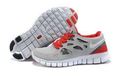 Fabulous Nike Free Run 2 Shoes Mens Grey Red Sneakers Mode, Sneakers For Sale, Girls Sneakers, Work Sneakers, Nike Free Run 2, Sneaker Stores, Sneaker Brands, Jordan 4, Adidas Soccer Boots