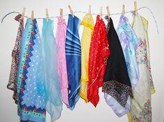 Vintage Fashion Scarf Collection Fun to by CheekyVintageCloset, $28.00