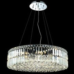 Contemporary D70CM K-9 crystal chandelier lighting with 12 lights in chrome plated