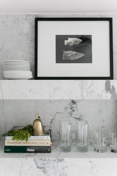 modern marble floati