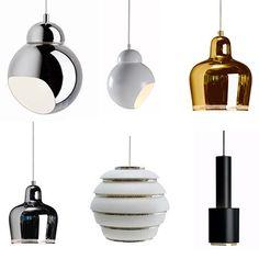 Finnish Artek lamps.