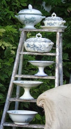 My French Country Home, French Living - Sharon Santoni Yes, I have been thinking of using a ladder for display.