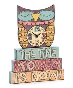 This 'Time to Fly' Table Clock is perfect! #zulilyfinds