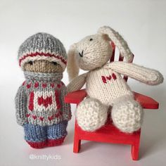 """Gudrun Dahle on Instagram: """"🇨🇦 Happy Canada Day! 🇨🇦 . Cool kid has sold and white bunny is not for sale - he slacks off in my studio while I'm working hard knitting."""" Slack Off, Happy Canada Day, Working Hard, Slacks, Cool Kids, Winter Hats, Bunny, Christmas Ornaments, Cool Stuff"""