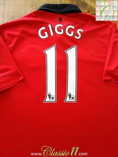 cc80ea6c168 2013 14 Man Utd Home Premier league Football Shirt Giggs  11 (L)