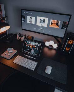 Adjustable Tablet Stand S - Lamicall Computer Desk Setup, Gaming Room Setup, Gaming Rooms, Gaming Computer, Home Office Setup, Home Office Design, Office Workspace, Dream Desk, Bedroom Setup