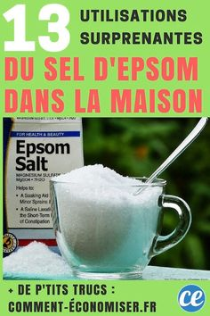 Epsom Salt Magnesium, Hygiene, Good Things, Health, Household, France, Inspiration, Hacks, Amigurumi