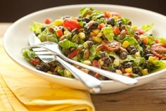 This looks like a yummy salad! Black Bean Salad with Avocado-Lime Dressing   Whole Foods Market