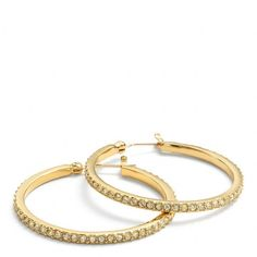 Coach Pave Hoop Earrings (495 VEF) ❤ liked on Polyvore featuring jewelry, earrings, accessories, enamel earrings, glitter earrings, hoop earring set, earrings jewelry and pave jewelry