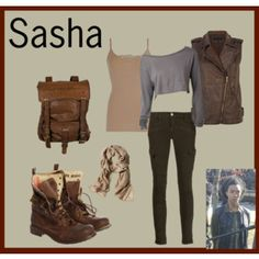 Sasha - The Walking Dead inspired outfits Walking Dead Clothes, Walking Dead Costumes, The Walking Dead, Casual Outfits, Cute Outfits, Fashion Outfits, Zombie Apocalypse Outfit, Apocalypse Fashion, Disney Dress Up