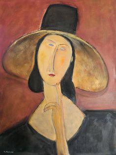Oleo sobre lienzo de 61x46 cm, copia de una obra de Modigliani. Pintura al oleo de alta calidad, hecho a mano por mi. Sin marco. Tenga en cuenta que los colores pueden variar levemente debido a la camara y su monitor. No dude en contactar conmigo para cualquier consulta..