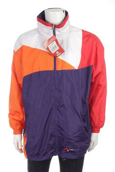 Vintage 90s Very Rare Dead Stock Nederland Brand Beltona Sports  Windbreaker Jacket Color Block Size XL New With Tags by VapeoVintage on Etsy