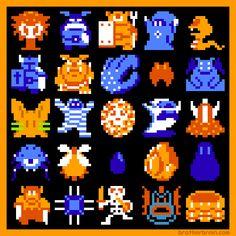 Link's Enemiesby Brother Brain.The Legend of Zelda (NES) Nintendo 1987.Mario's Enemies here.