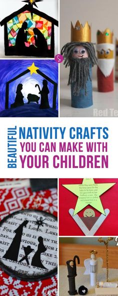 LOVE these Nativity craft ideas especially the toilet paper Kings!