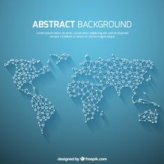 World map global network map design free vector icons mondiale carte fond dans le style abstrait gumiabroncs Gallery