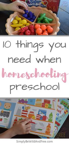 Homeschool Preschool with the use of Curriculum Aides