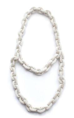 White Alexia Necklace by Ek Thongprasert X Natasha Goldenberg for Preorder on Moda Operandi