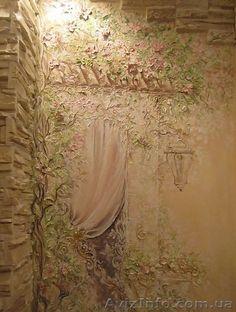 Декоративные штукатурки,  рельефы,  роспись стен,  фрески. Лепнина.  в Херсоне