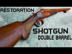 This was hard to find this Gun but i was lucky to work on such a pretty double barrel shotgun. By the way maybe ill shoot this in another video. It was perfe. Double Barrel, Hand Logo, Shotgun, How To Look Pretty, Hand Guns, Restoration, Old Things, Anderson Arms, Zombies Survival