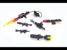 How To Make A Lego Sniper Rifle For A Minifigure! This video will show you how to make a Lego sniper rifle for your minifigures. This scale Lego sniper rifle. Legos, Minifigura Lego, Lego Guns, Lego Craft, Lego Design, Easy Lego Creations, Lego Memes, Lego Pictures, Lego Activities