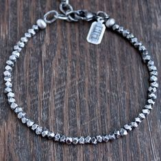 Men's Rustic Nugget Bead Bracelet Silver Bracelets, Bracelets For Men, Silver Beads, Sterling Silver Chains, Bangle Bracelets, Matching Necklaces, Stone Beads, Beaded Necklace, Men Stuff