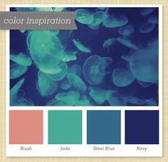 Pink, Green, Gray and Navy Color Palette 19 by Sarah Hearts