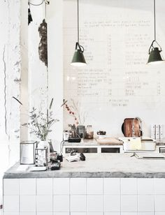 #Kitchen creative designs for your renovation project - all in white love the simple lighting.. http://www.myrenovationstore.com