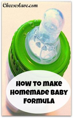 Why would you want to make homemade baby formula?