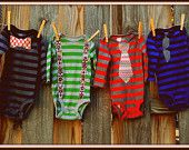 "Swanky Baby Boy Onesie Gift Set ""The Oliver Set"" (4 long sleeved onesies)"