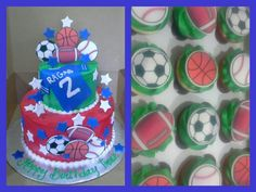 All star cake and cupcakes