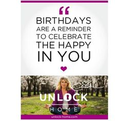 If it's your birthday, celebrate the happy in you! Weekly happy talk-Christa Melton
