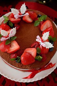 リース仕立てのガナッシュケーキ|JUNAっちの食卓へようこそ!【cotta*コッタ】通販サイト